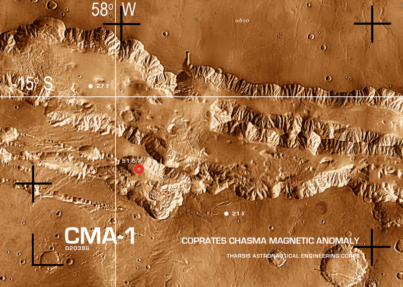 remix by Alexander Lionel from a NASA Mars Odyssey THEMIS mosaic